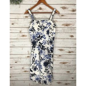 Dresses & Skirts - WHITE AND BLUE FLORAL DRESS SIZE 8